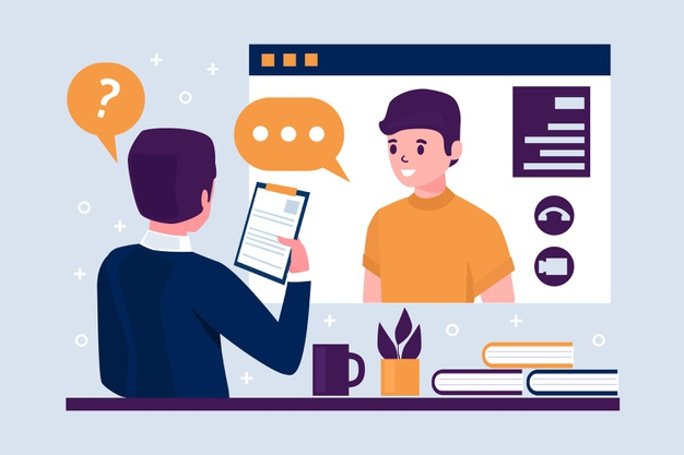 online-universiy-interview-concept